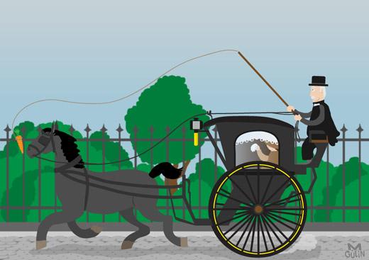 häst och vagn 1800-tal