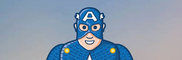Captain America goes Jumping Jack