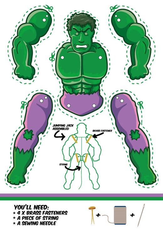 Hulk puppet