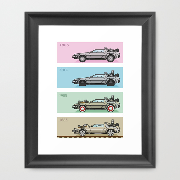 print delorean time machine
