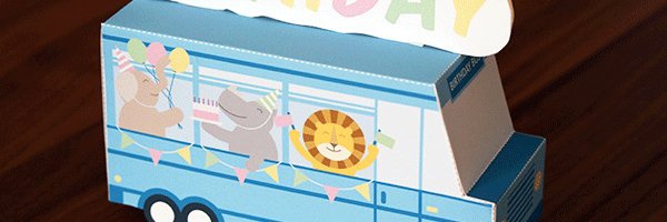 Printable Birthday Bus