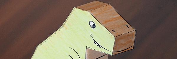 t-rex paper puppet