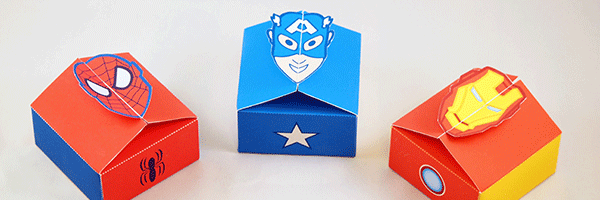 Superhero gift boxes