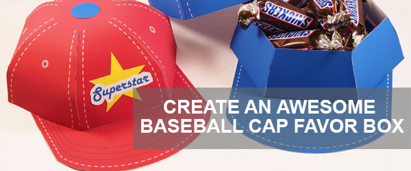 bASEBALL CAP FAVOR BOX