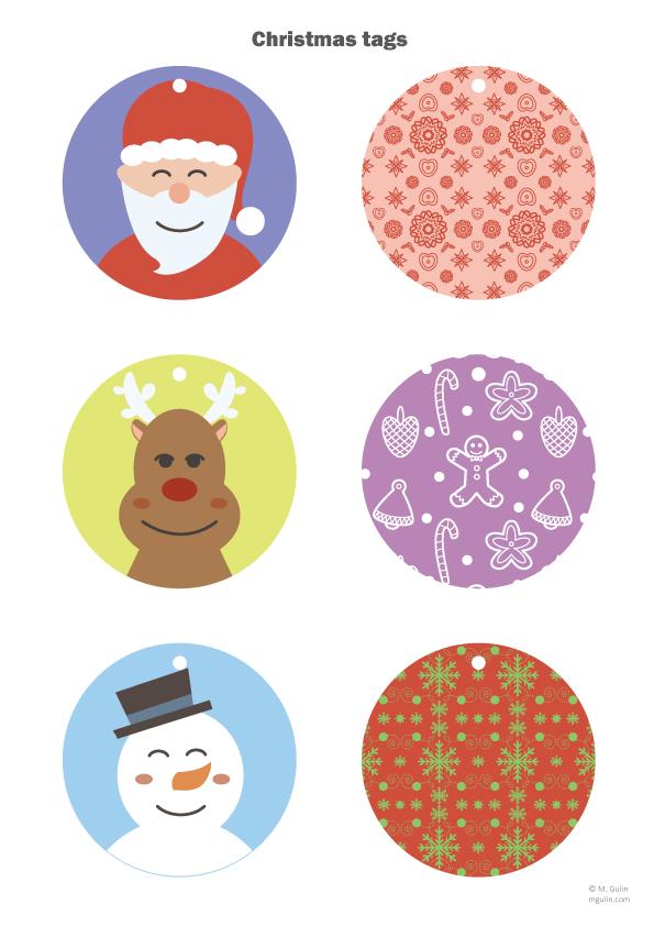 6 christmas tags
