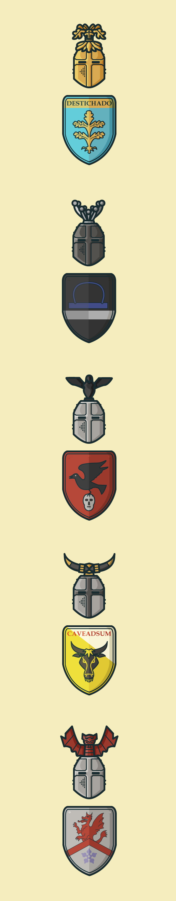 knights of ivanhoe vector