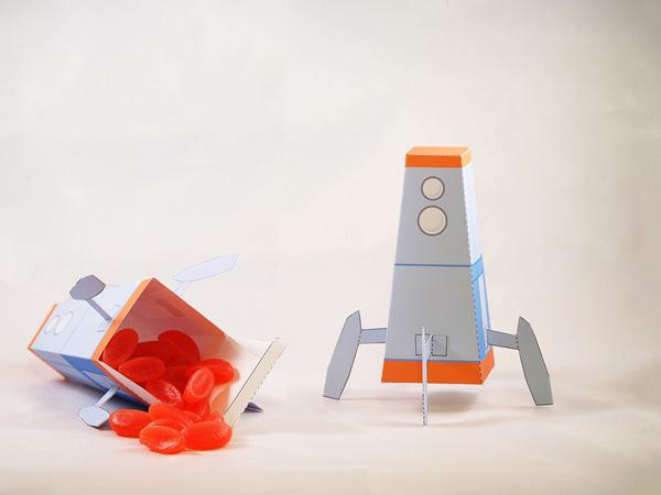 Printable Rocket favor box