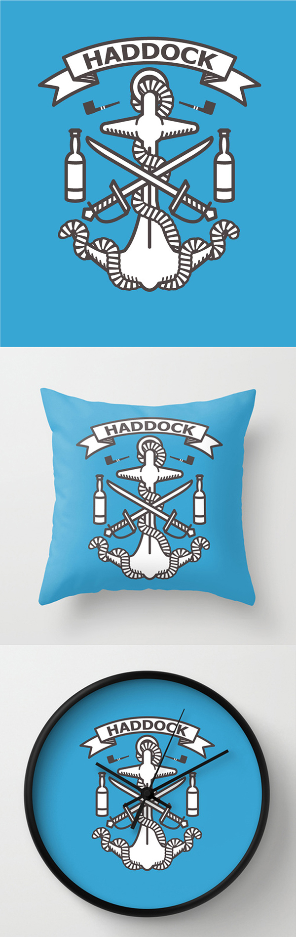 Prints and products of Captain Hddock