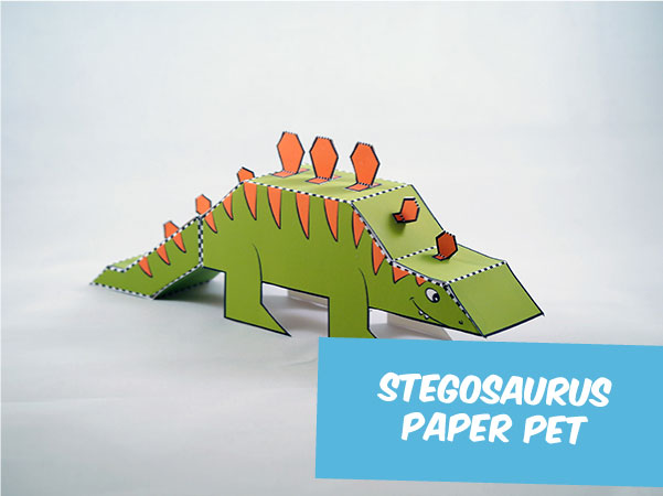 stegosaurus paper craft
