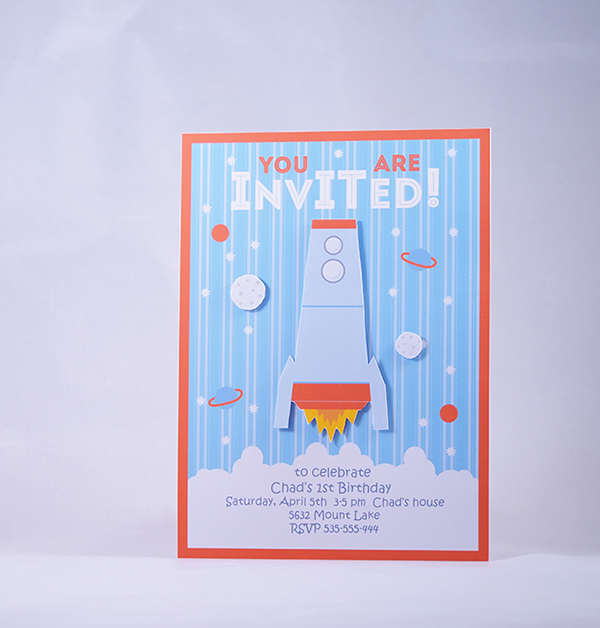 rocket invitations