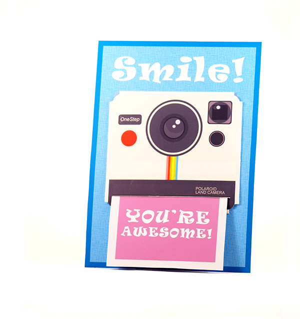 polaroid camera card
