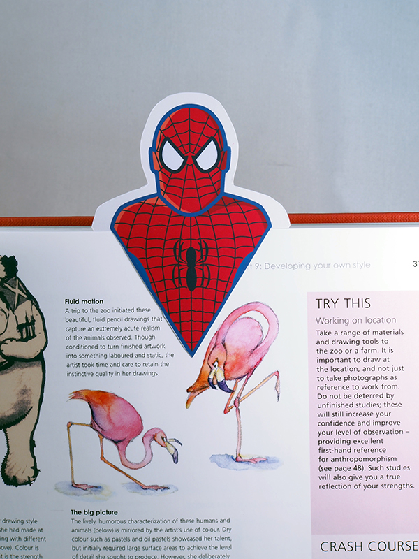 spider man bookmark