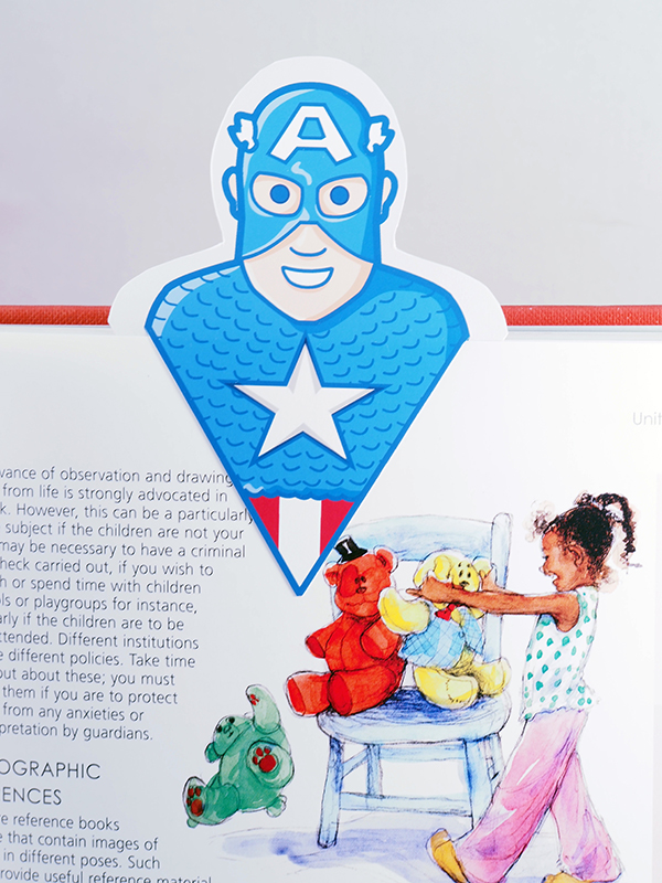 captain america bookmark