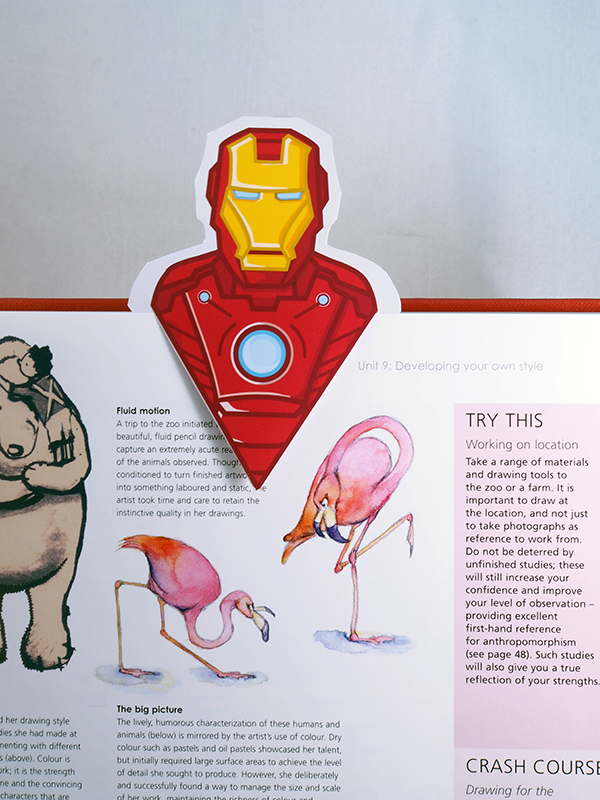 iron man bookmark