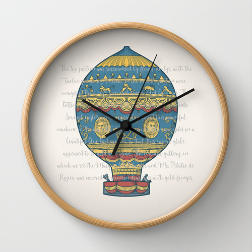 Montgolfier brothers' balloon clock