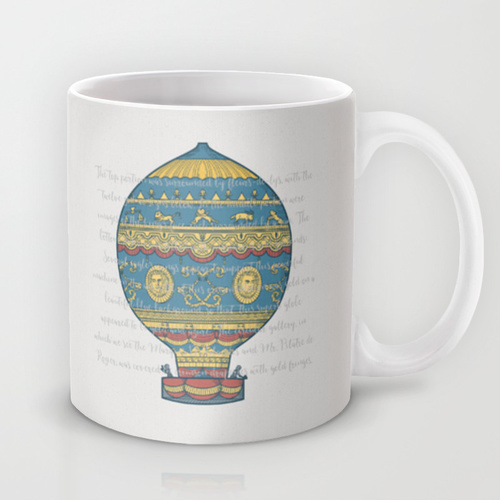 Montgolfier brothers' balloon mug