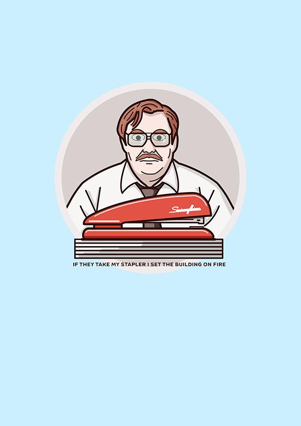 Office space stapler