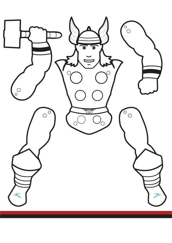superhero jumping jacks - coloring edition vol 2