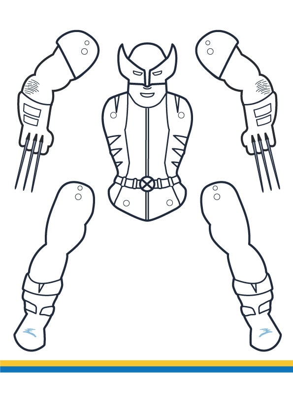 wolverine coloring puppet
