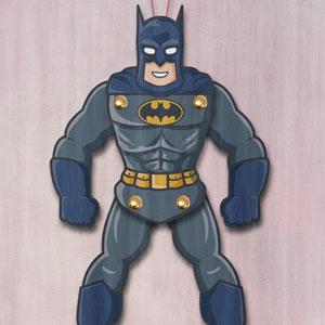 Batman paper puppet