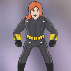Black Widow Paper Puppet