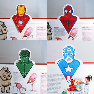 DIY Superhero Bookmarks