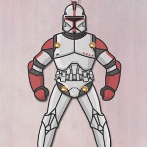 Clone Trooper Paper Puppet
