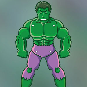 The incredible Hulk Paper Puppet