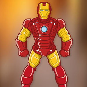 Iron Man Paper Puppet