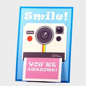 DIY papercraft – Polaroid camera themed Gift Card