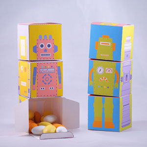 Robot Blocks – DIY Favor boxes