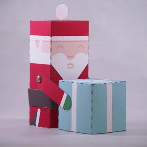 DIY Santa Claus paper puppet