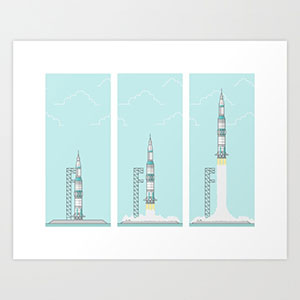 Saturn V Space Rocket