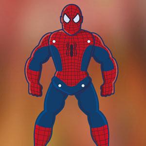 Spider man paper puppet
