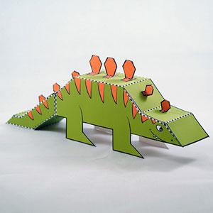 Stegosaurus paper pet