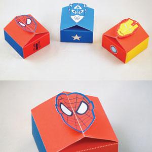 DIY Superhero Gift box