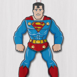 Superman paper puppet