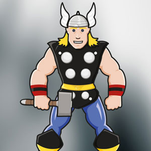 The Mighty Thor paper puppet
