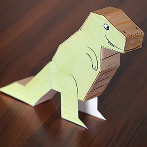 Dinosaur DIY T-Rex Paper Puppet