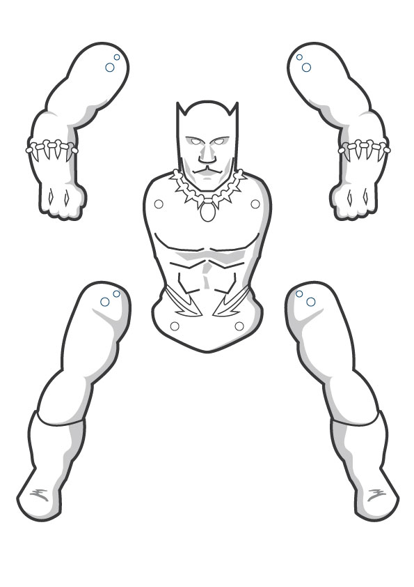 black panther coloring page - the gallery for marvel black panther coloring page