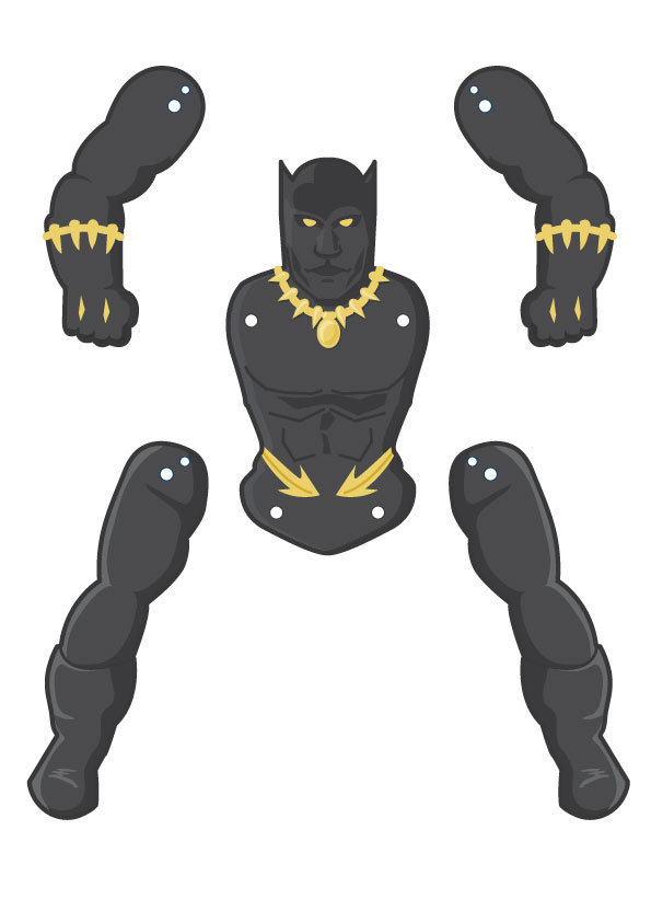 black-panther-puppet-template