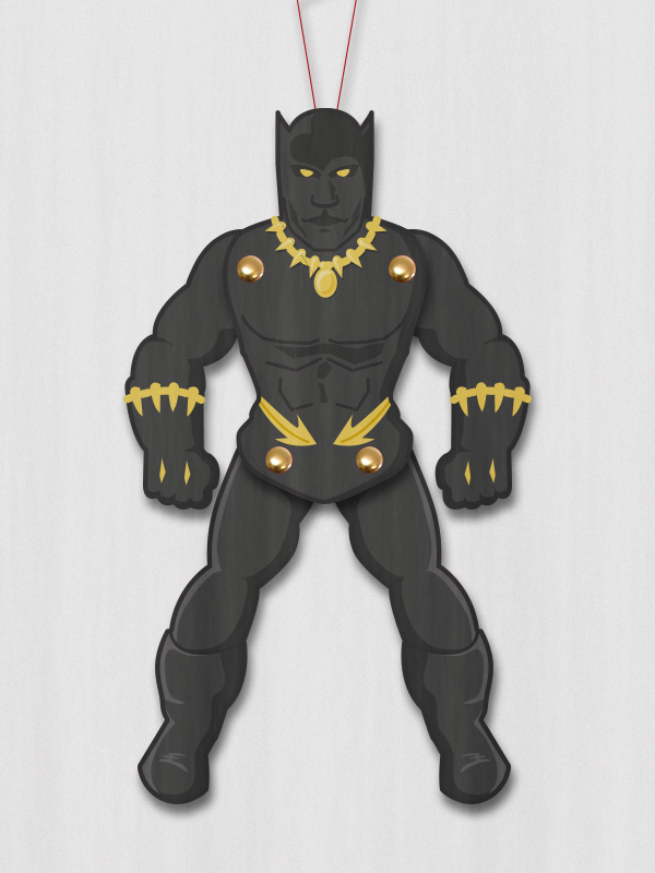 paper puppet black panther