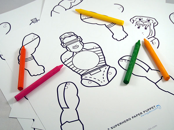 Coloring superhero template