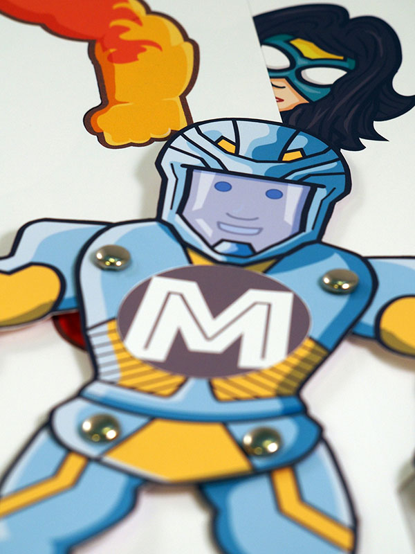 Superhero paper toy