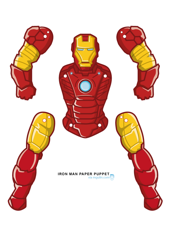 iron man paper puppet prinatble