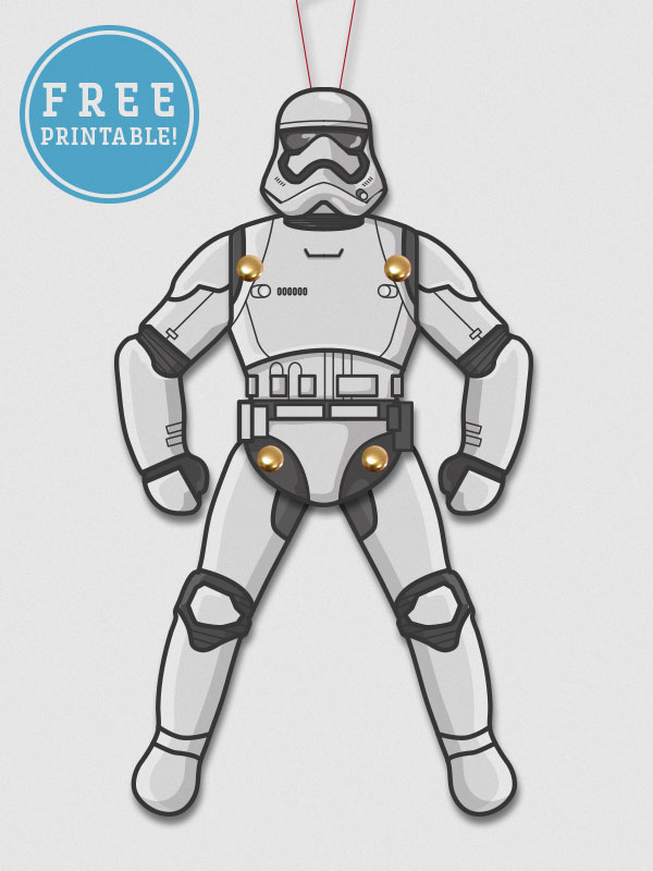 image regarding Stormtrooper Printable titled Star Wars - Stress Awakens Paper Puppet Printables - M. Gulin