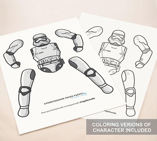 stormtrooper paper puppet