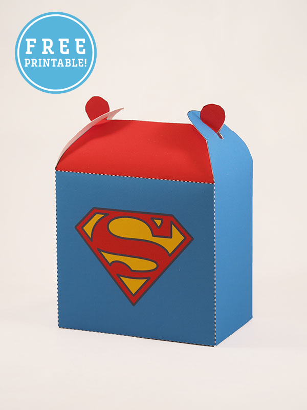 Superhero favor box