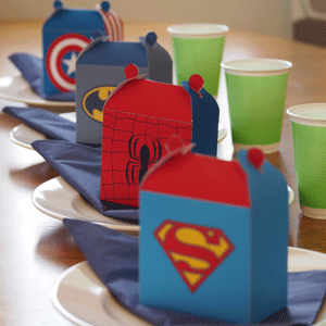 Superhero favor box