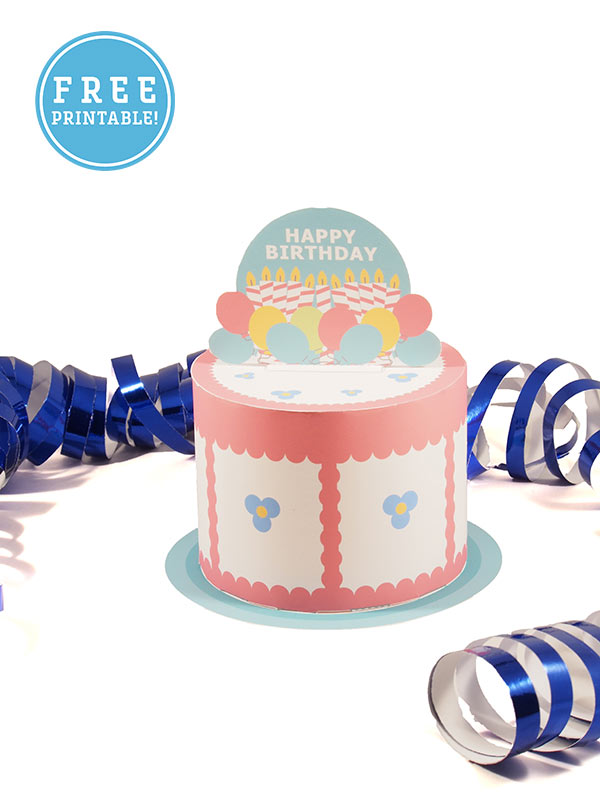 image about Birthday Cake Printable named Printable Content Birthday Cake - M. Gulin